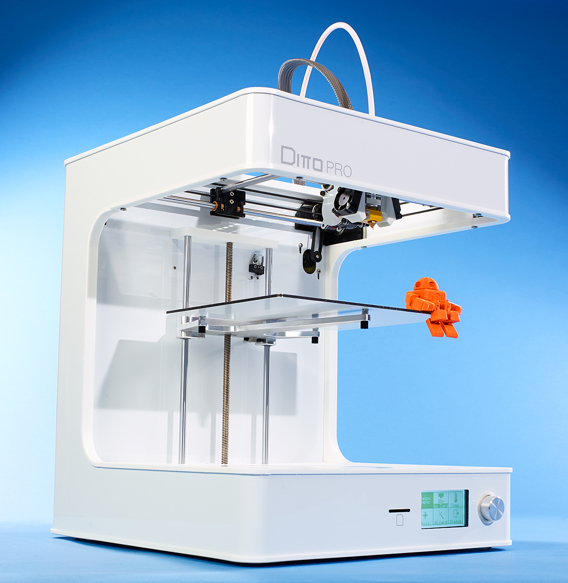 product photo of 3d printer with robot for make magazine by Brian Kaldorf