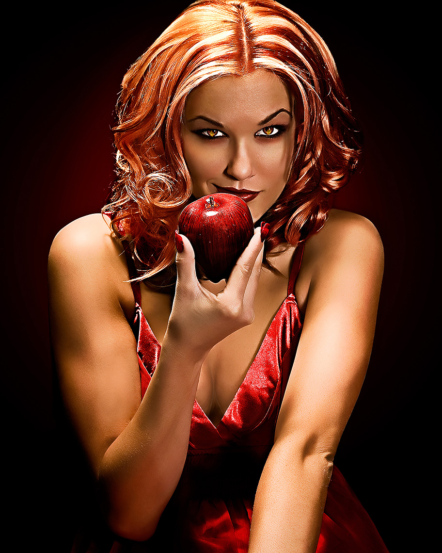 conceptual photo of Apple model shoot by brian kaldorf