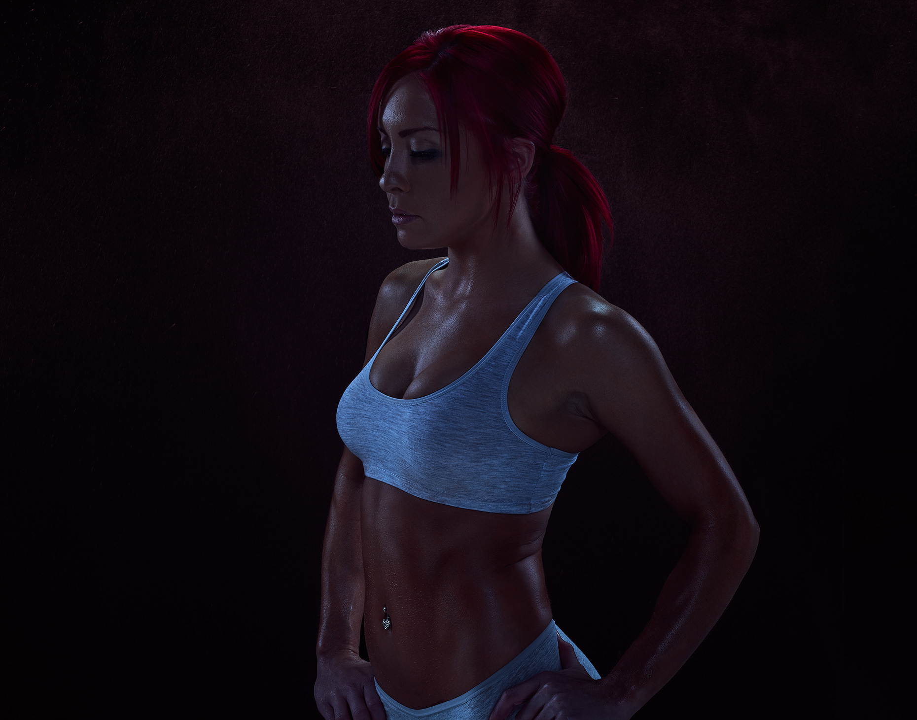 portrait of crossfit athlete cool down by brian kaldorf