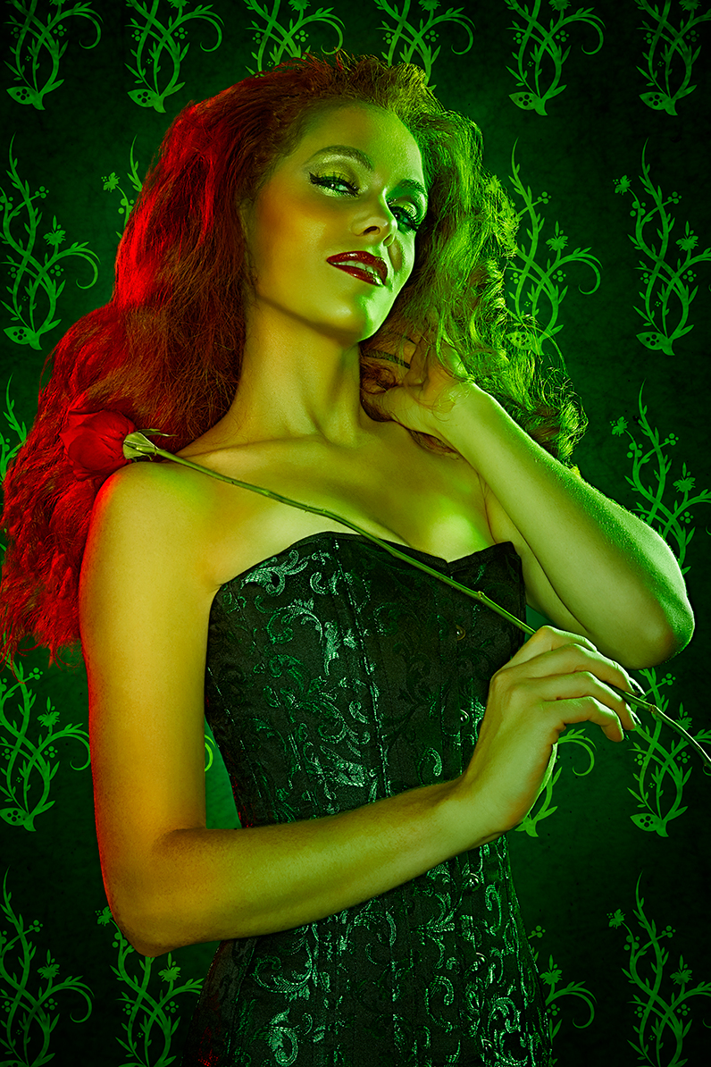 conceptual portrait of poison ivy by brian kaldorf